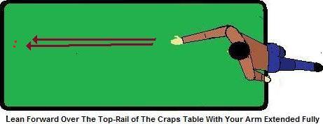 Craps throwing technique